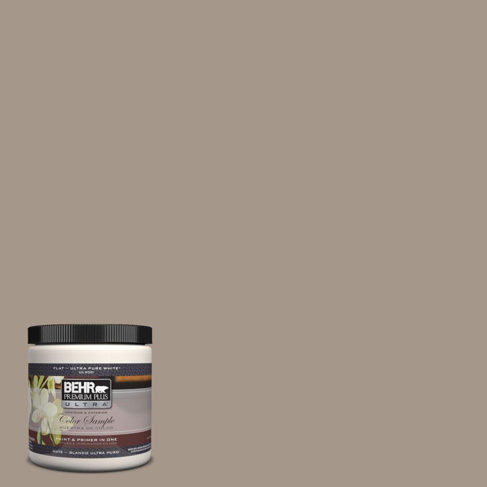BEHR Premium Plus Ultra 8 oz. #UL140-7 Studio Taupe Interior/Exterior Paint Sample