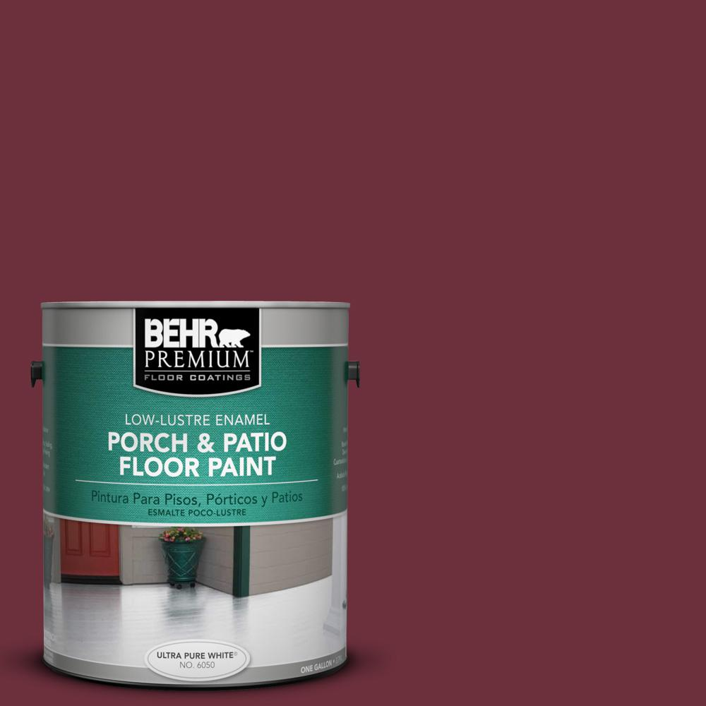 1 gal. #BXC-90 Wild Cranberry Low-Lustre Porch and Patio Floor Paint