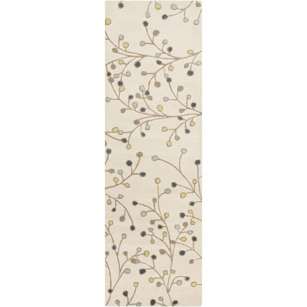 Aloysia Ivory 2 ft. 6 in. x 8 ft. Indoor Rug