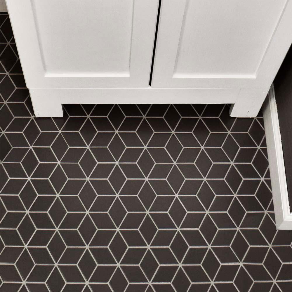 - Merola Tile Metro Rhombus Matte Grey 10-1/2 In. X 12-1/8 In. X 5