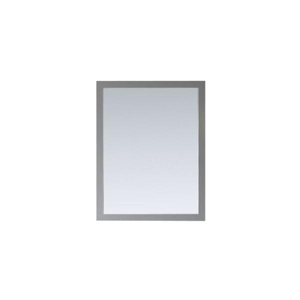 28.00 in. W x 36.00 in. H Framed Rectangular  Bathroom Vanity Mirror in Dove Grey