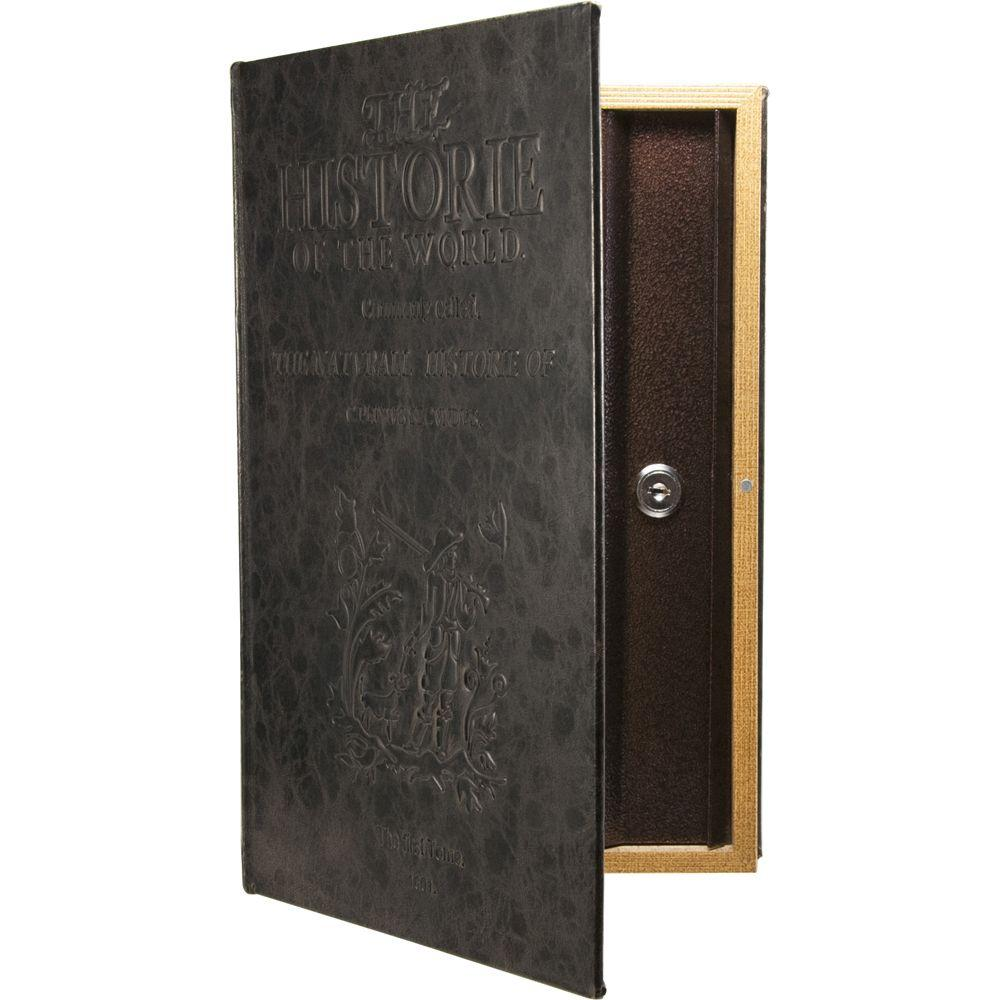 BARSKA 0 10 cu ft  Steel Large Antique Book Lock Box Safe with Key Lock