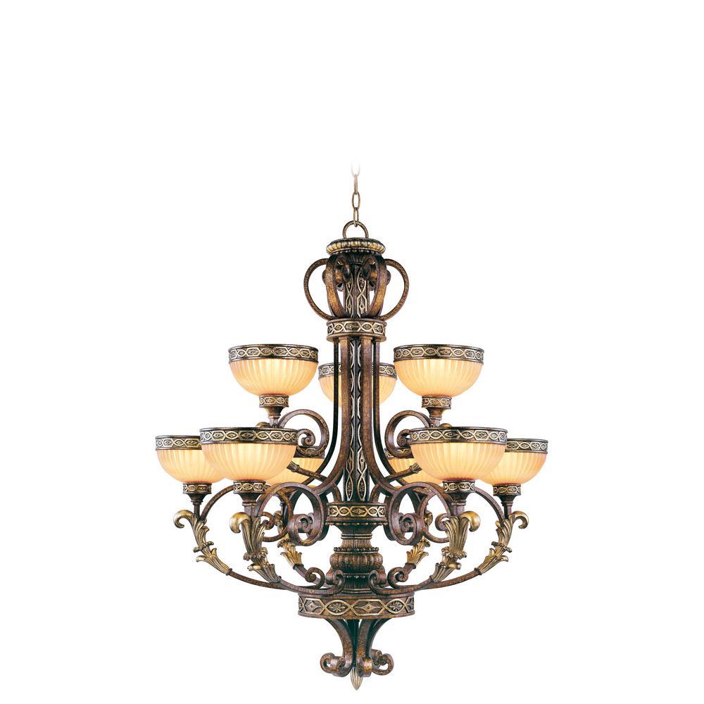 Seville 9-Light Palacial Bronze Chandelier