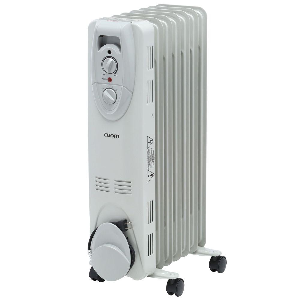 1500-Watt Electric Oil-Filled Radiant Portable Heater - Grey-HD904 ...