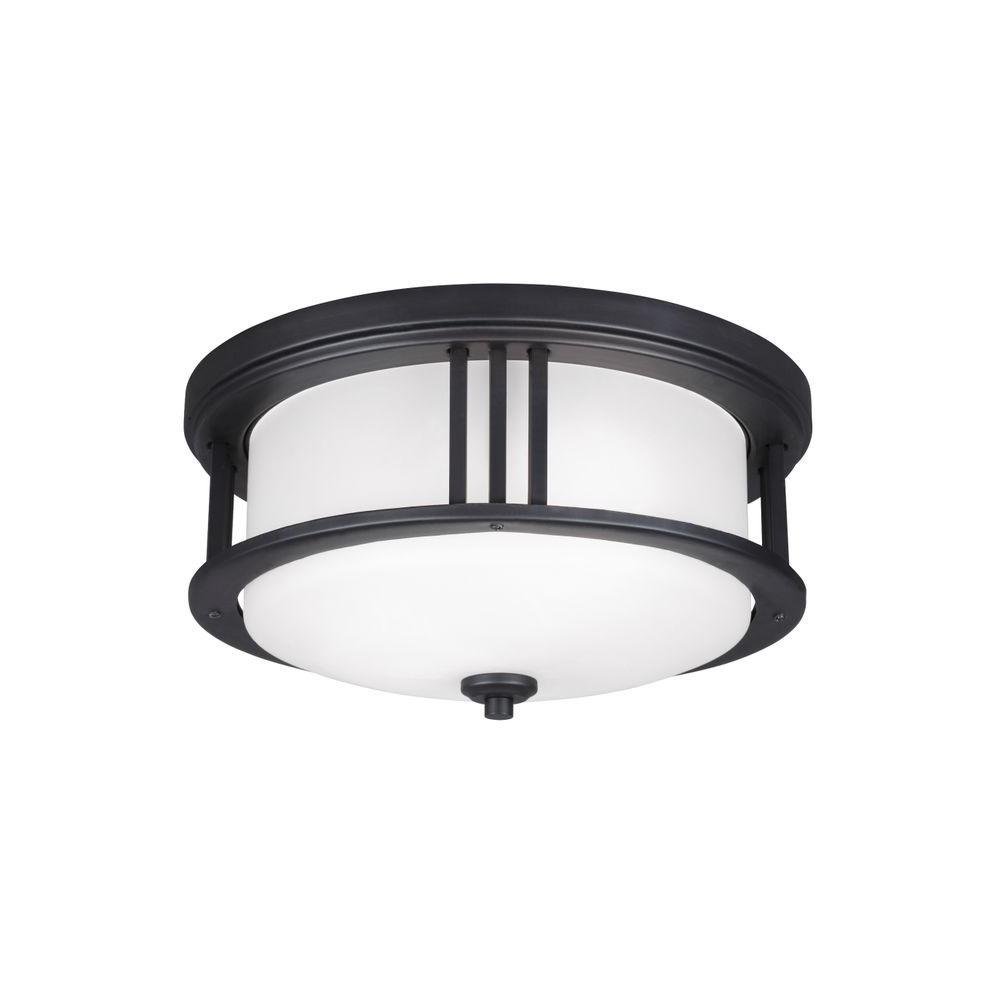 Crowell 2-Light Black Ceiling Light