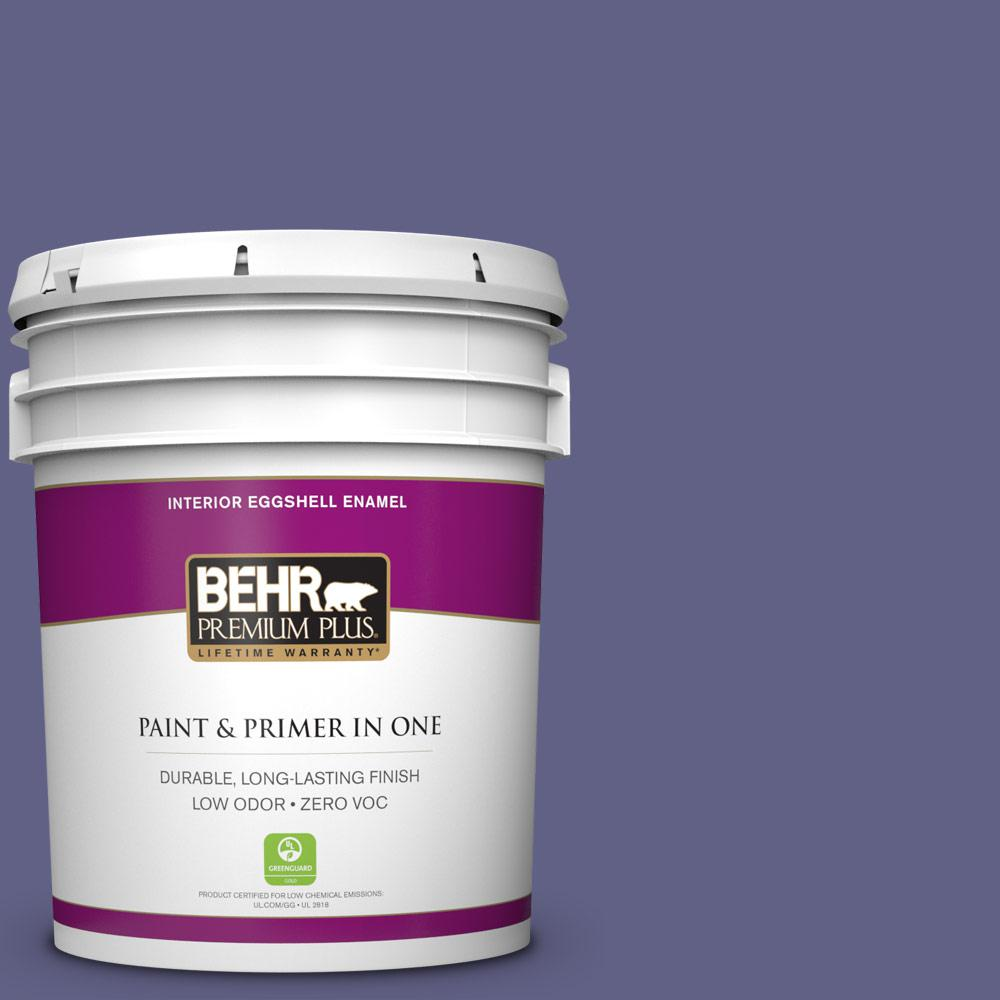 5 gal. #640D-7 Pharaoh Purple Zero VOC Eggshell Enamel Interior Paint