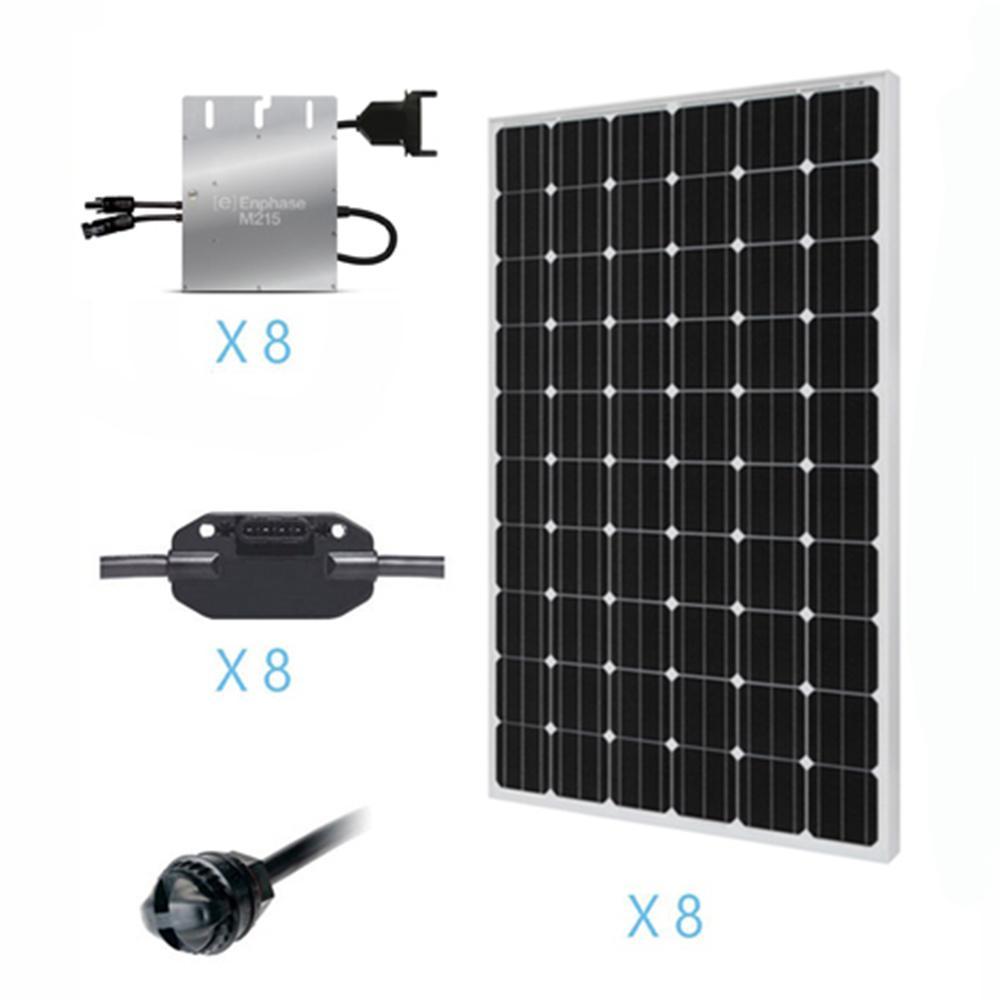 Renogy 2000 Watt Monocrystalline On Grid Solar Kit For