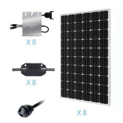 2000-Watt Monocrystalline On-Grid Solar Kit for Solar System