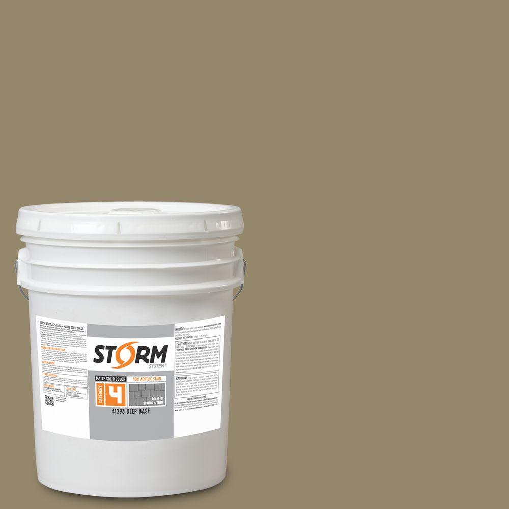 Storm System Category 4 5 gal. Joe's Moss Matte Exterior Wood Siding 100% Acrylic Latex Stain