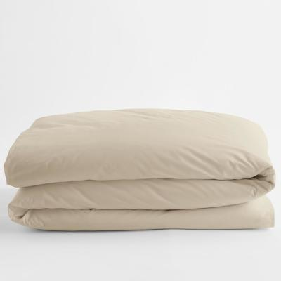 Organic Oat Solid Cotton Percale Full Duvet Cover
