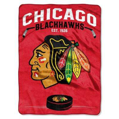 Blackhawks Inspired Multi Raschel Blanket