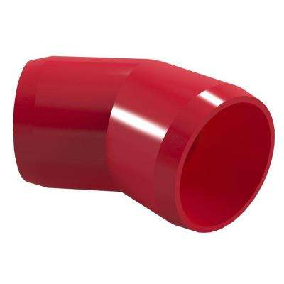 1-1/4 in. Furniture Grade PVC 45-Degree Elbow in Red (4-Pack)