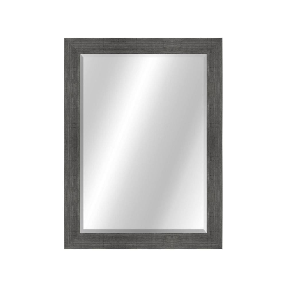 Wood Toned 22 x 28 Value Core Grey Framed Vanity Mirror