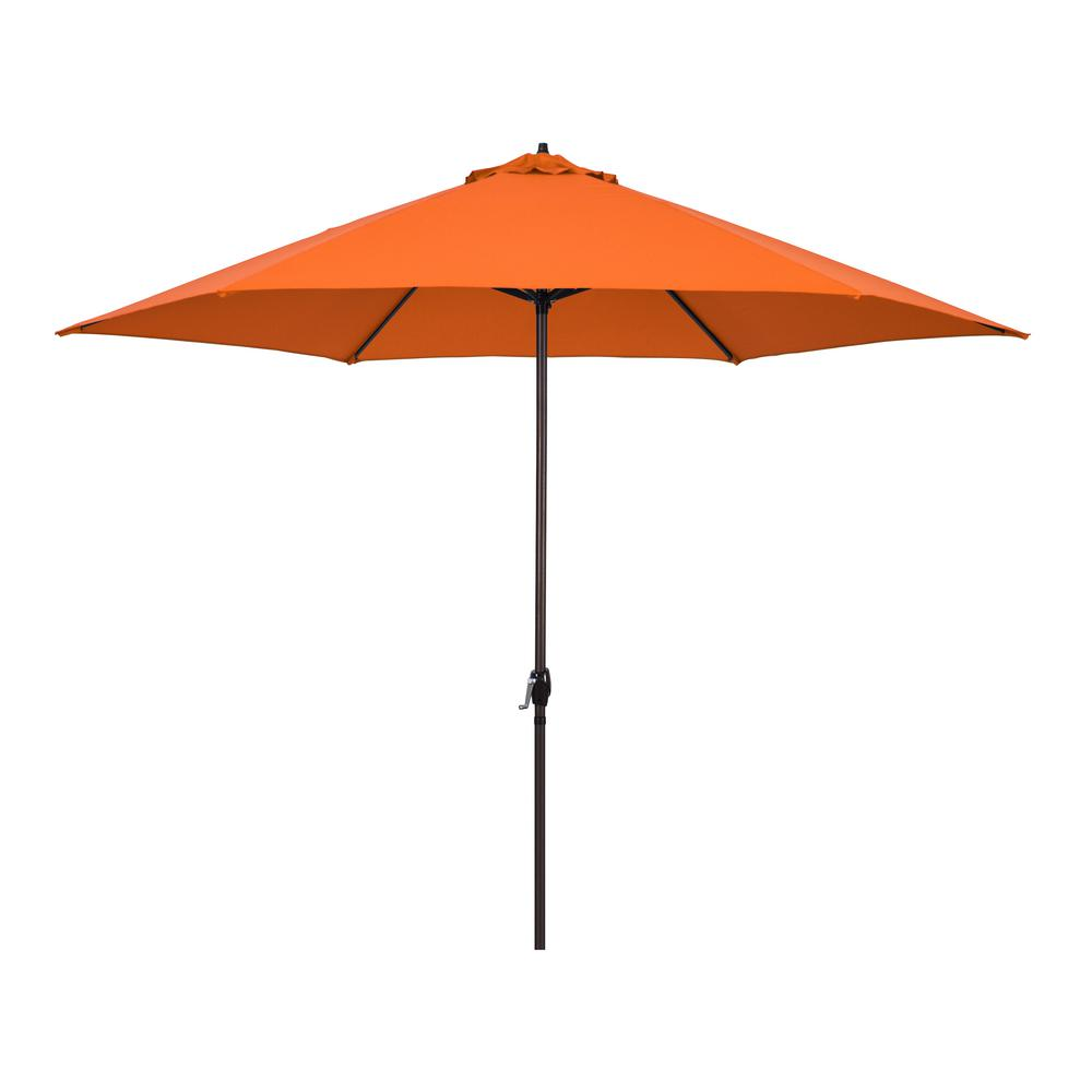 Astella 11 ft. Aluminum Market Crank Lift Patio Umbrella in Polyester Tuscan