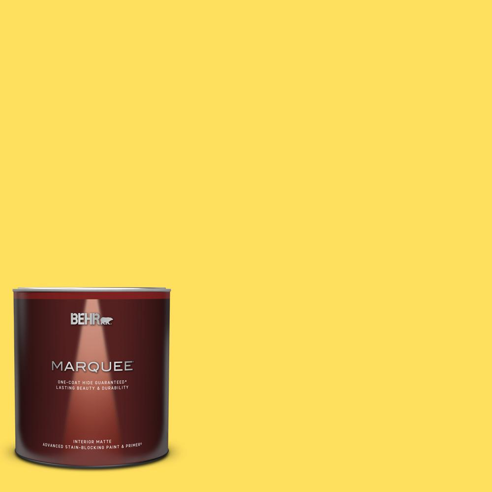 Behr Marquee 1 Qt 380b 5 Neon Light Matte Interior Paint And Primer In One 145304 The Home Depot