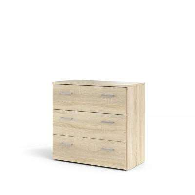 Space 3-Drawer Oak Structure Chest