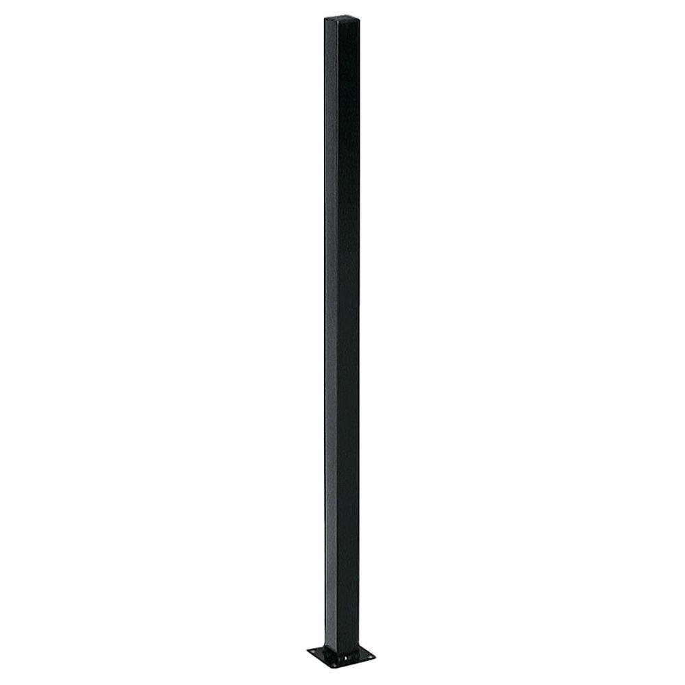 square metal fence post. US Door \u0026 Fence 2 In. X 4 Ft. Black Square Metal Post