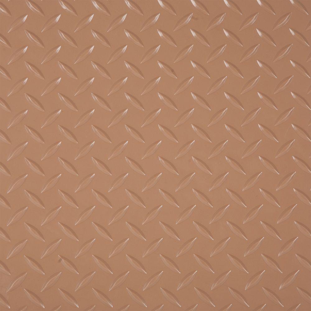 RaceDay 12 in. x 12 in. Sandstone Peel and Stick Diamond Tread Polyvinyl Tile (20 sq. ft. / case)
