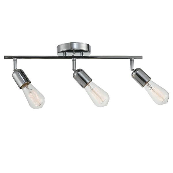 Light Chrome Track Lighting Kit