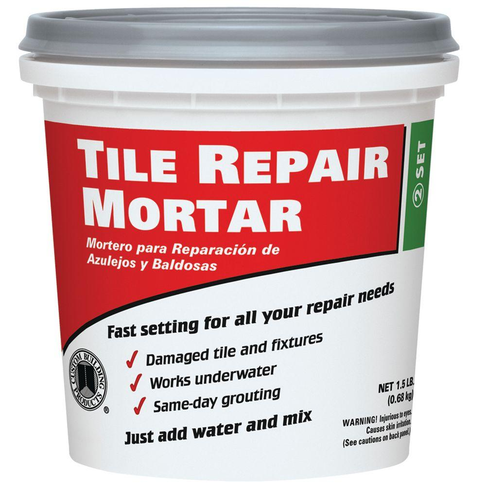 Custom building products 15 lb white tile repair mortar trmw1 white tile repair mortar ppazfo