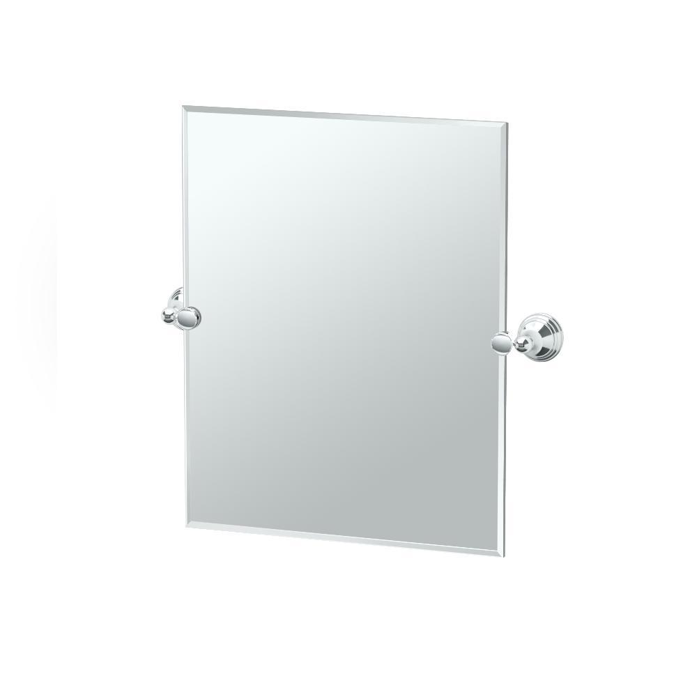 Gatco Charlotte 20 in. W x 24 in. H Frameless Rectangle Mirror in Chrome