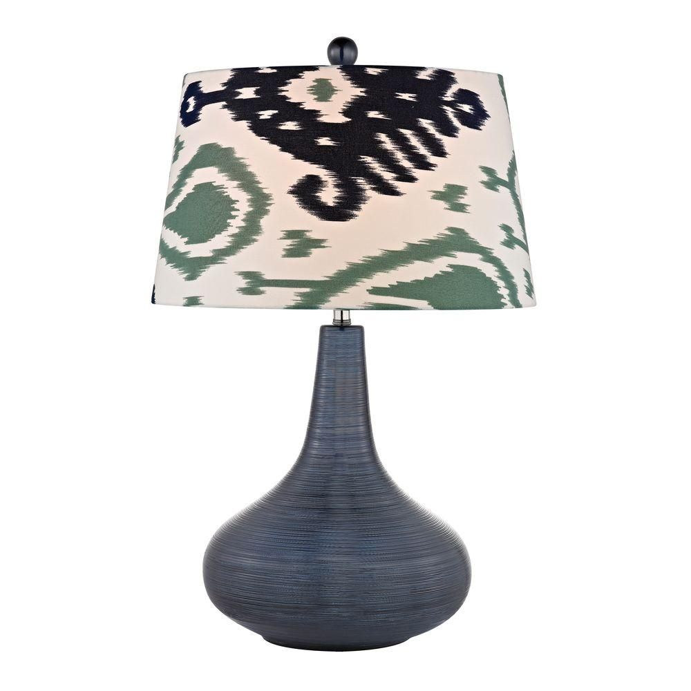 Titan Lighting Penarth 26 In Navy Blue Ceramic Table Lamp Tn 999985