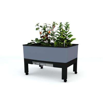 World Garden 33.5 in. x 24.25 in. x 23 in. Grey In/Outdoor Self Watering Garden