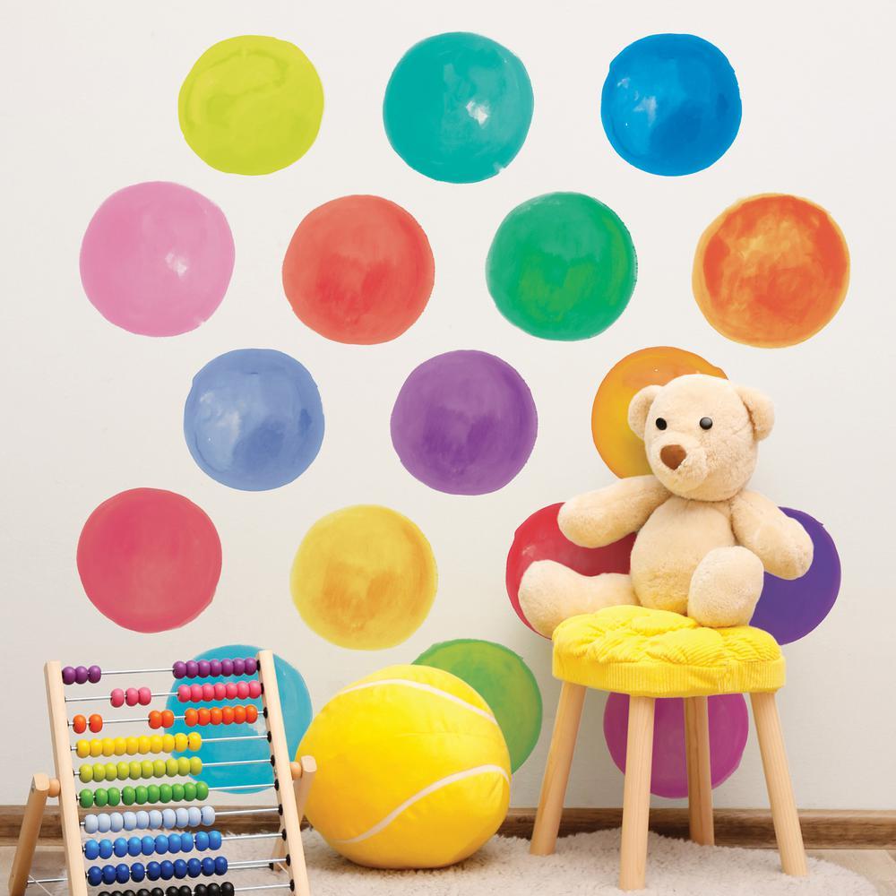 Wallpops Multi Color Paint Palette Wall
