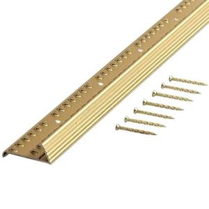 Trafficmaster Satin Brass Fluted 72 In Carpet Gripper With Teeth