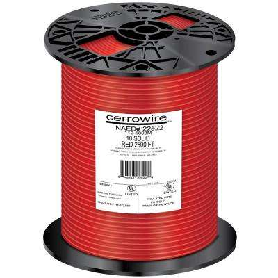 2500 ft. 10-Gauge Red Solid THHN Wire