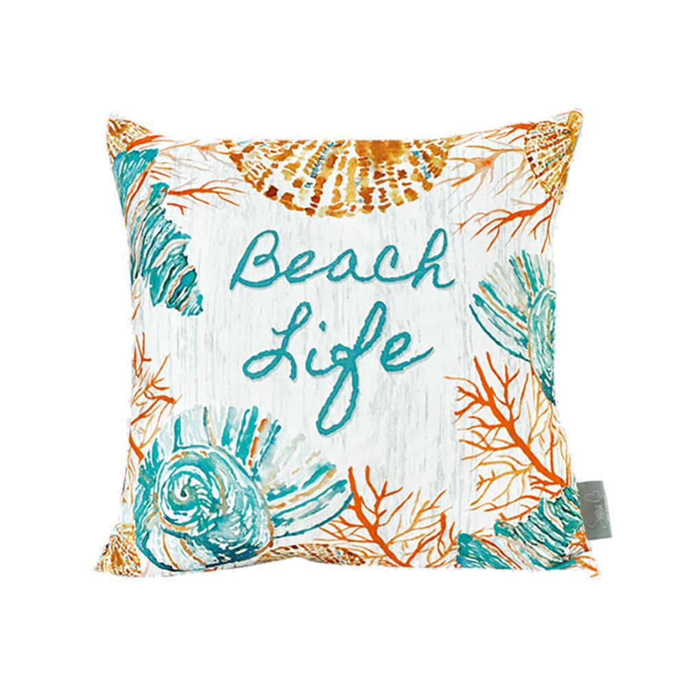 Delicieux Sara B. Beach Life Multicolor Decorative Pillow SBP1BLF20   The Home Depot