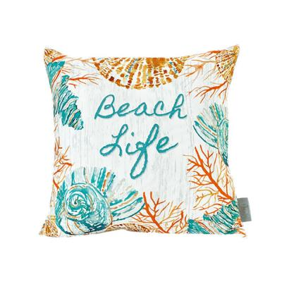 Beach Life Multicolored Standard Throw Pillow