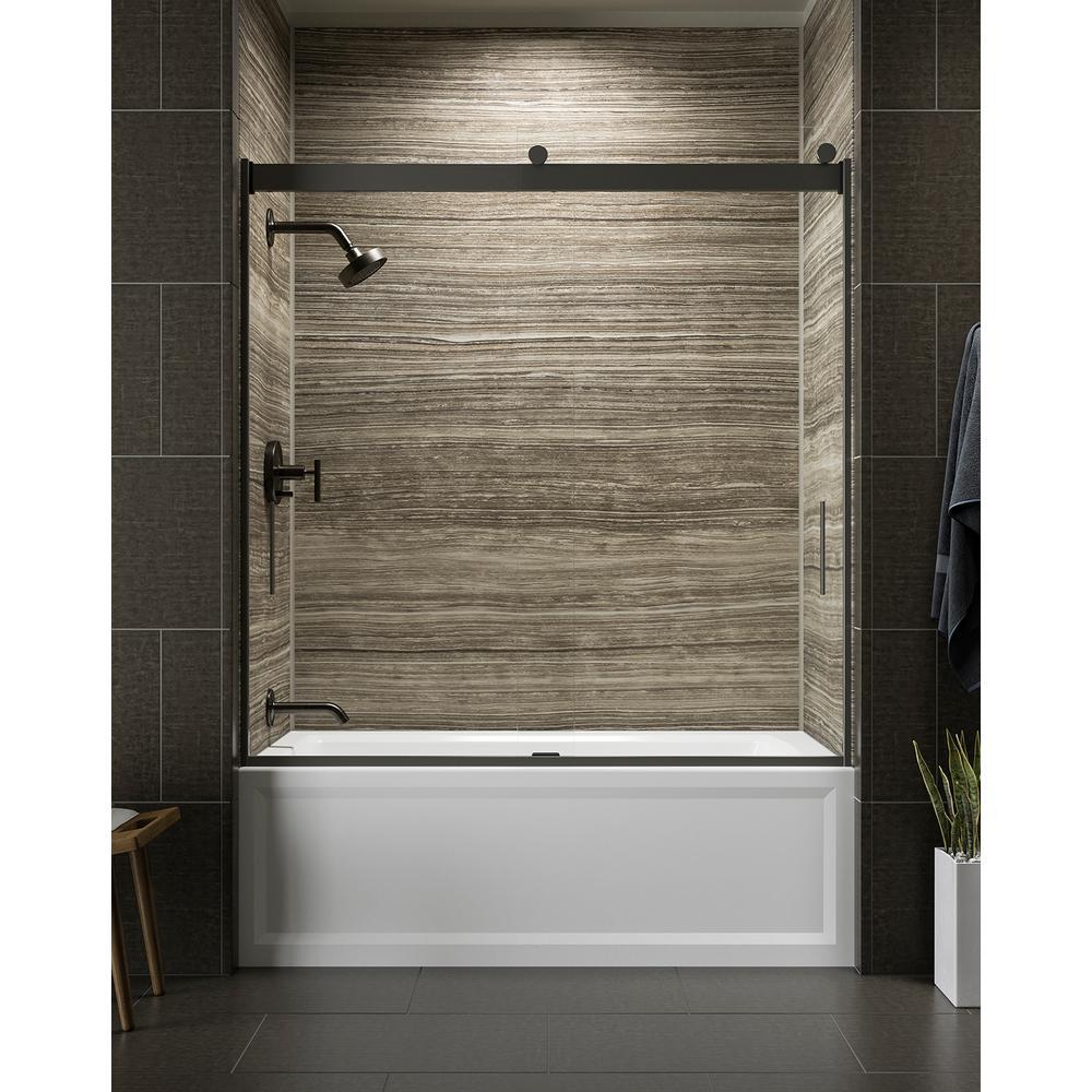 H Frameless Sliding Tub Door