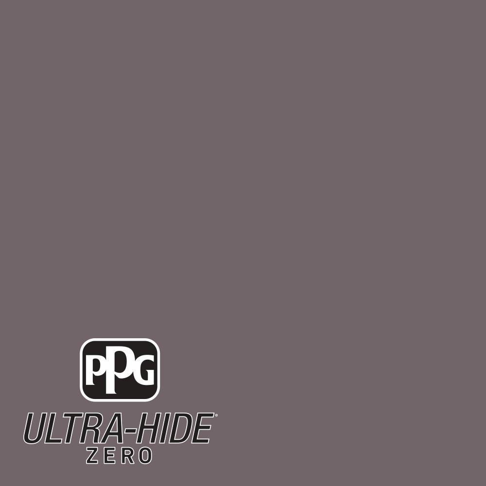 PPG 1 gal. #HDPCN59 Ultra-Hide Zero Black Frosted Plum Semi-Gloss Interior Paint