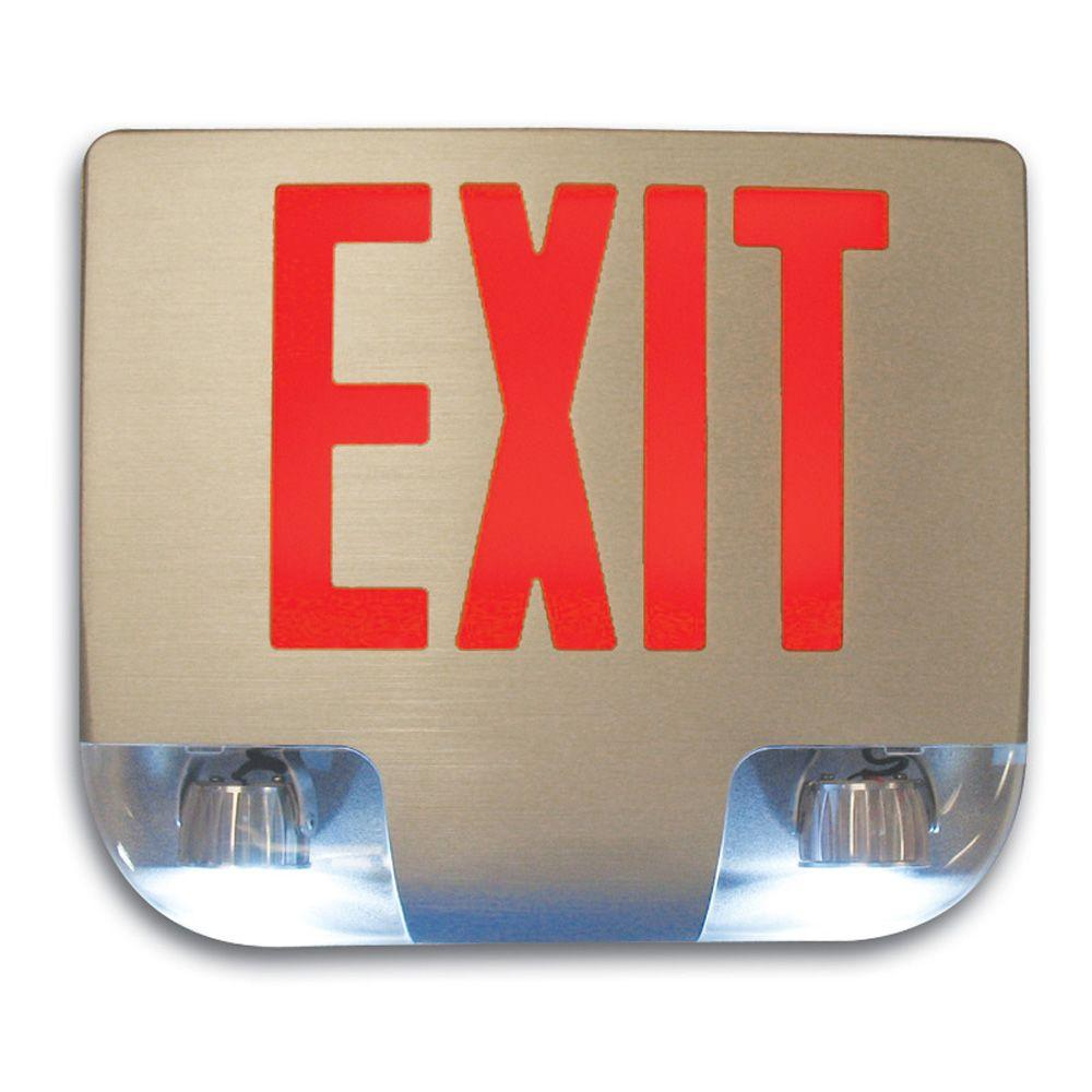 Filament Design Nexis 1 Light Die Cast Aluminum LED Singe Face Red Emergency Exit/Combo