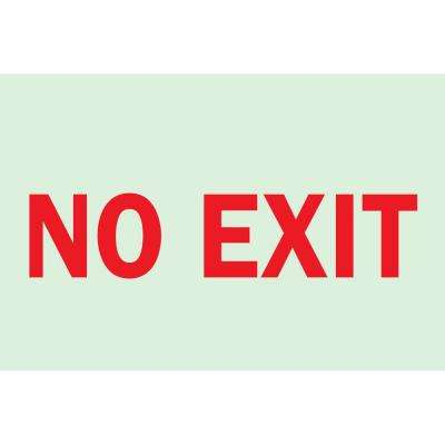 7 in. x 10 in. Glow-in-the-Dark Self-Stick Polyester No Exit Sign
