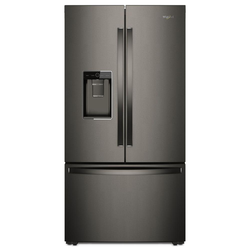 Whirlpool 36 in w 24 cu ft french door refrigerator in for How to increase cabinet depth