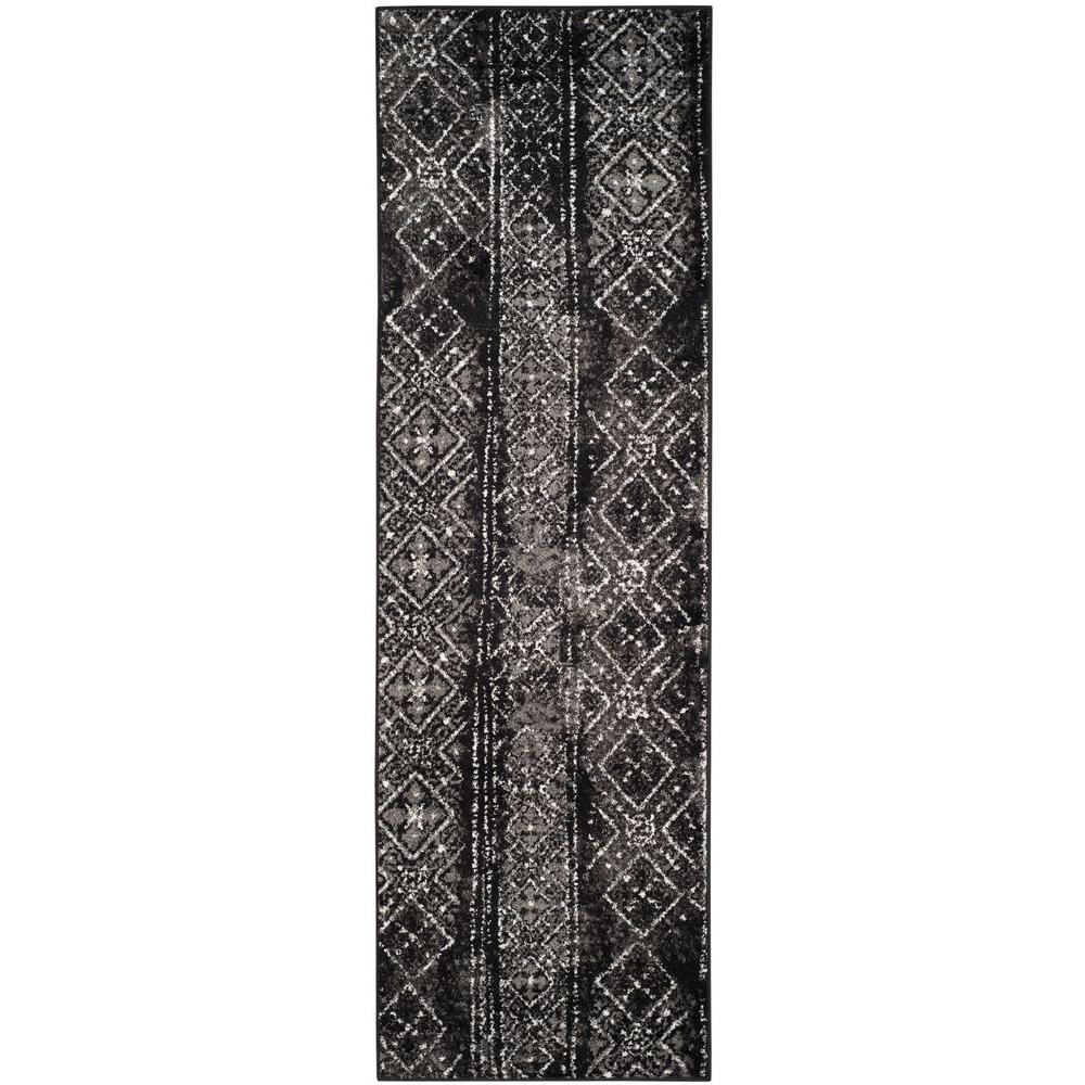 Adirondack Black/Silver 2 ft. 6 in. x 8 ft. Runner