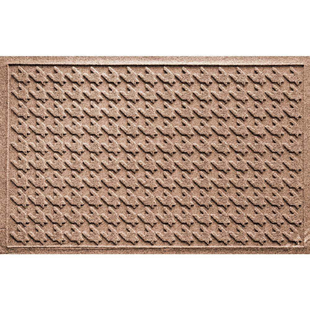 Aqua Shield Houndstooth Medium Brown 24 In. X 36 In