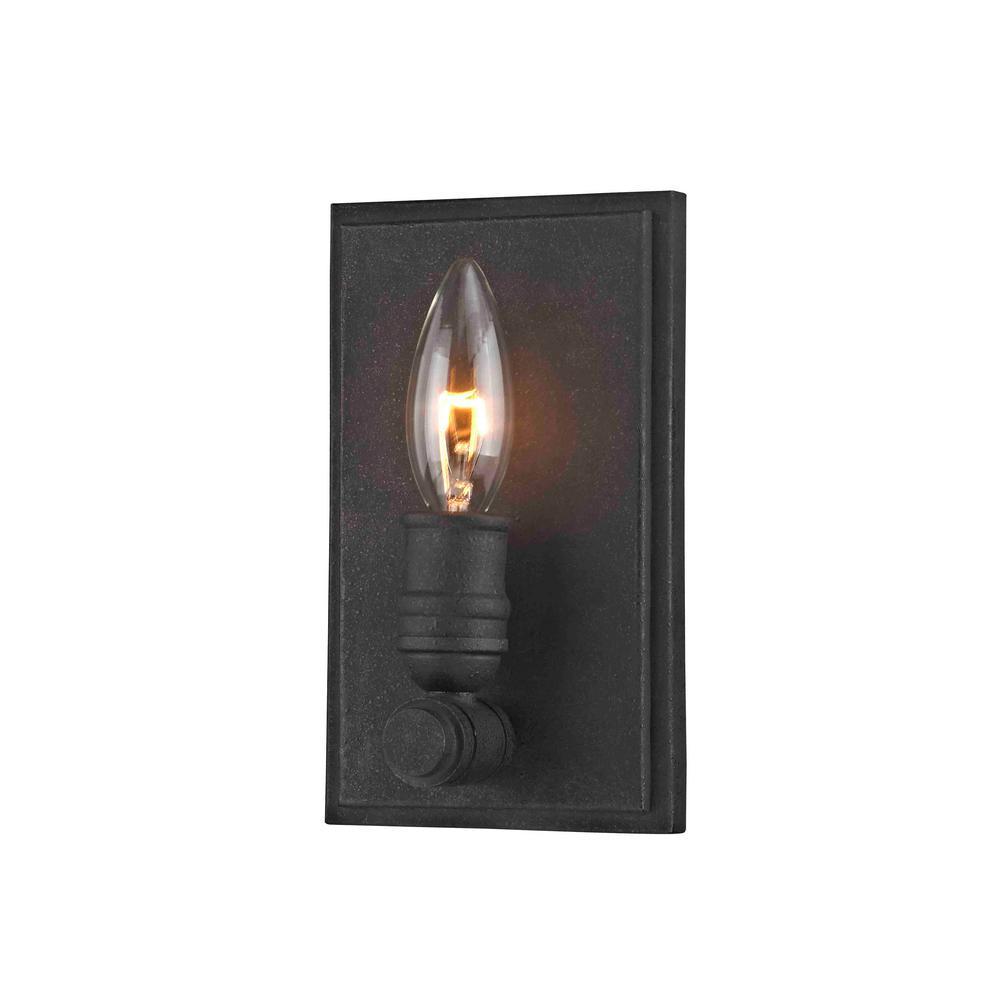 Wharfside 1-Light Textured Bronze Wall Sconce
