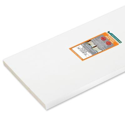 3/4 in. x 11-1/4 in. x 8 ft. High Performance White Cellular PVC Trim Board