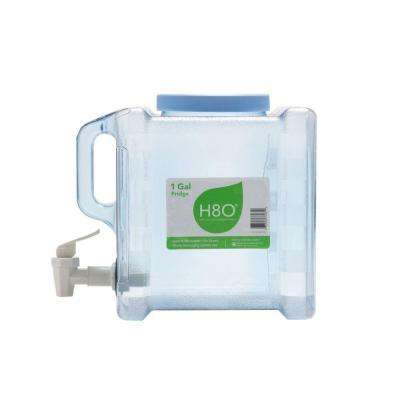1 gal. Fridge Bottle with Handle and Faucet in Clear
