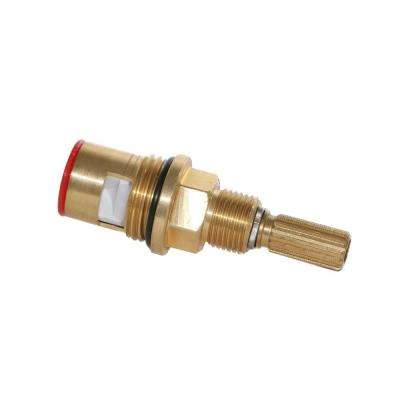 Brass Cartridge: Hot, 16Pt Spline for Altman and other Luxury Faucets