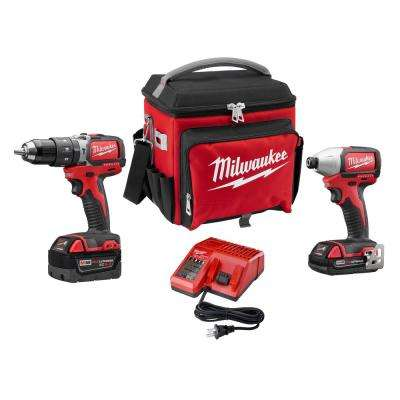 M18 18-Volt Lithium-Ion Brushless Cordless Compact Hammer Drill/Impact Combo Kit (2-Tool) with Free Jobsite Cooler