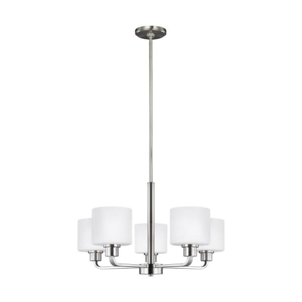 Canfield 5-Light Brushed Nickel Chandelier
