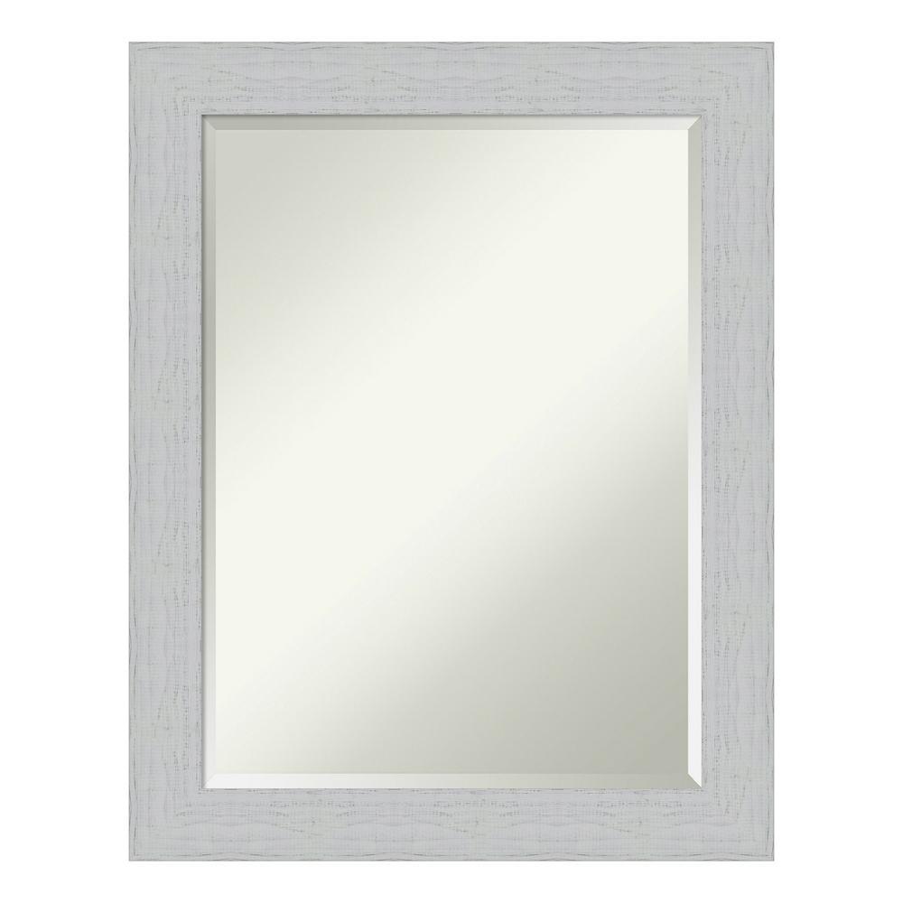 Shiplap Bathroom Vanity: Amanti Art Shiplap White Bathroom Vanity Mirror-DSW4093688