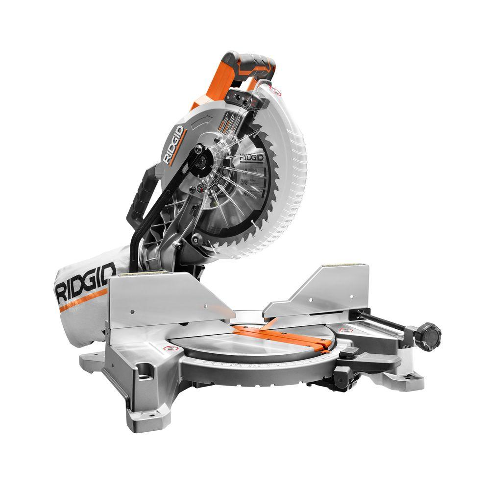 ridgid 15 amp 10 in dual bevel miter saw r4112 the home depot