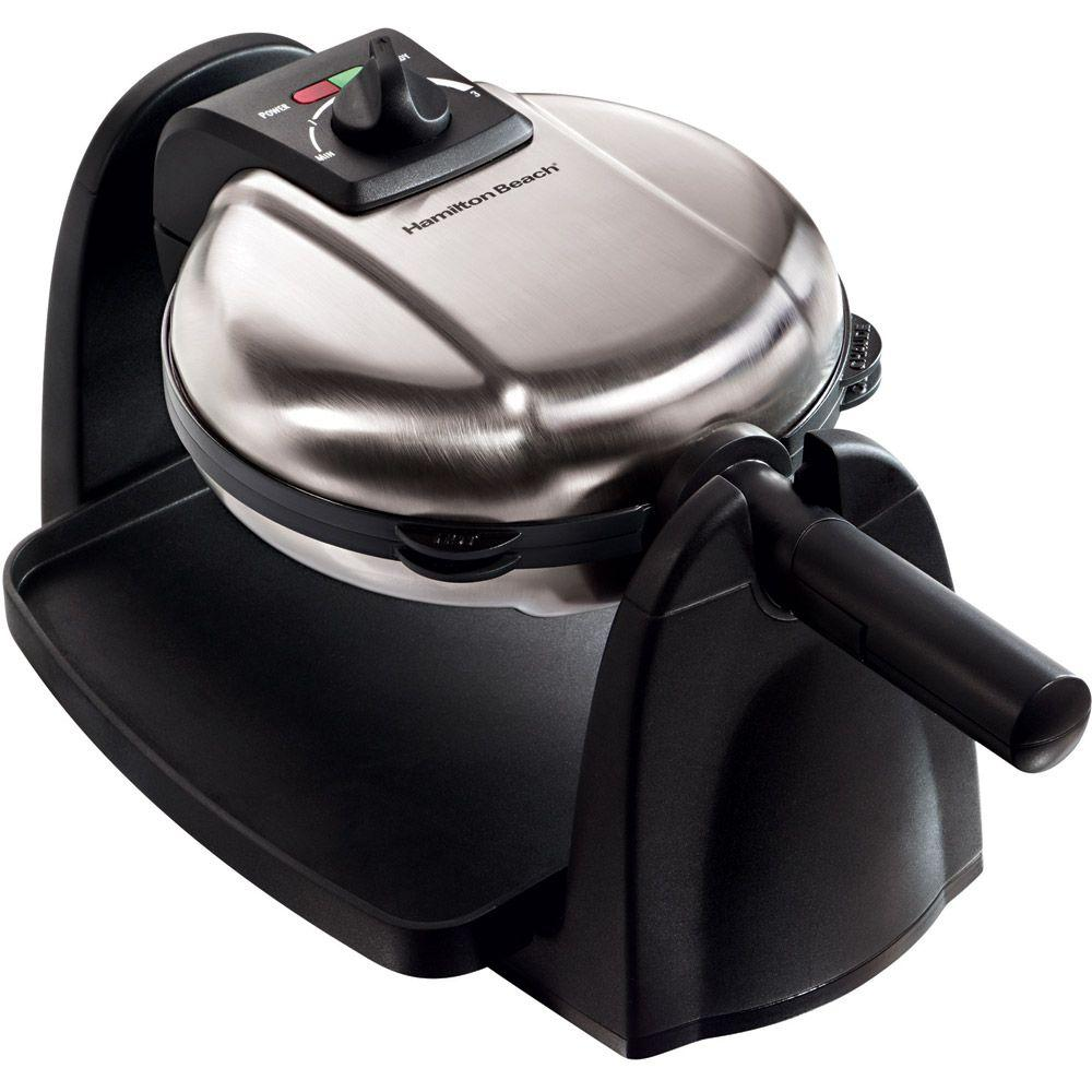 Hamilton Beach Flip Belgian Waffle Maker with Removable Non Stick Grids-DISCONTINUED