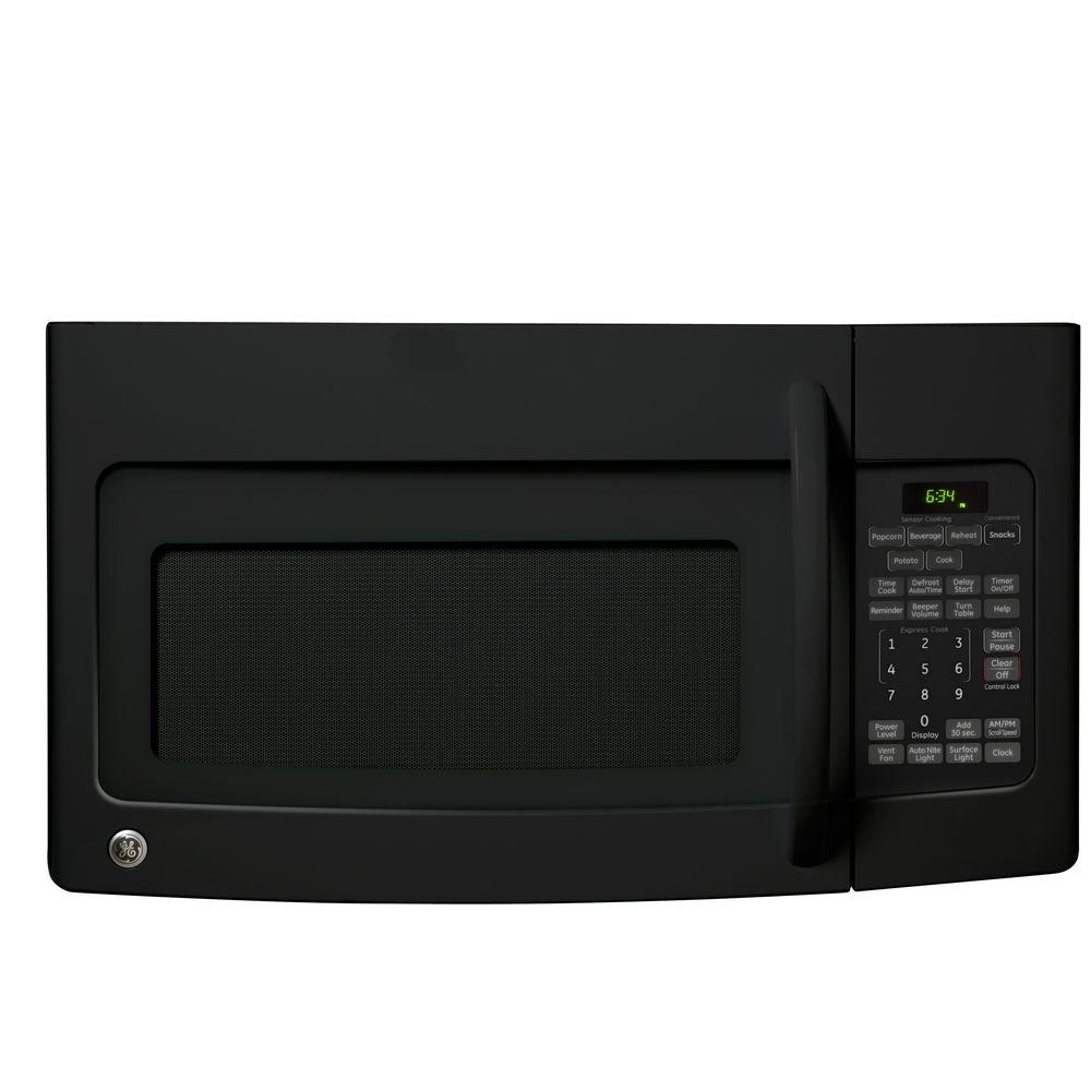 GE 1.7 cu. ft. Over-the-Range Microwave in Black