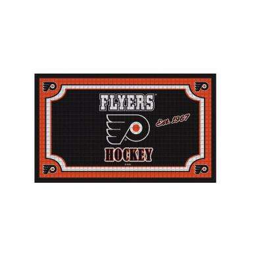 Philadelphia Flyers 18 in. x 30 in. Embossed Welcome Mat